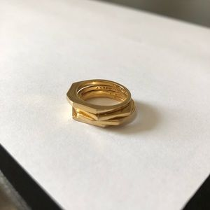 J. Crew Gold Plated Ring Stack